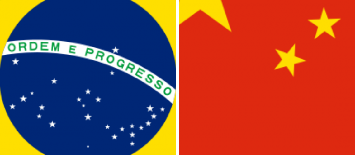Bandeira China e Brasil